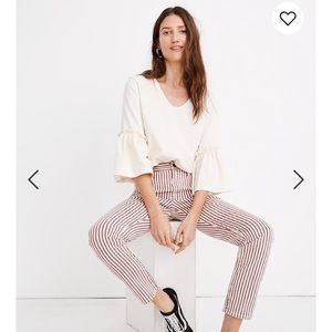 NWT Madewell High-Rise Slim Boyjean in Luca Stripe